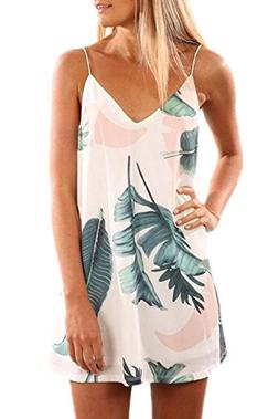 Angerella V Neck Summer Dresses for Women Sleeveless Slip Mi