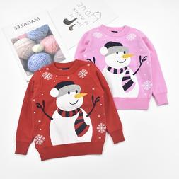 XMAS snowman boys <font><b>girls</b></font> sweaters kids ch