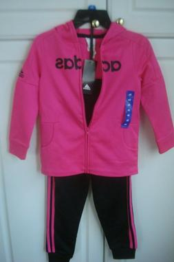 Adidas Youth Girls 2-piece Active Set Tracksuit Hoody Pink B