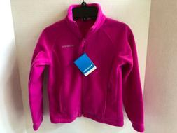 Columbia Youth Girls S Sawyer Rapids Pink Fleece Jacket NWT