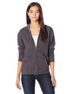 Hanes Women's Full-Zip Hooded Jacket, Slate Heather, 2X Larg